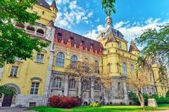 Το Vajdahunyad Castle (vara ουγγρικός-Vajdahunyad) είναι ένα κάστρο στο τ Στοκ φωτογραφία με δικαίωμα ελεύθερης χρήσης