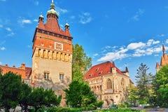 Το Vajdahunyad Castle (vara ουγγρικός-Vajdahunyad) είναι ένα κάστρο στο τ στοκ φωτογραφίες με δικαίωμα ελεύθερης χρήσης