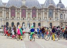 Το Velorution Λίλλη (59 Nord, η Γαλλία) Το Σάββατο 14 Μαρτίου 2015, μπροστά από Palais des Beaux Arts Στοκ εικόνες με δικαίωμα ελεύθερης χρήσης