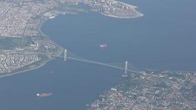 Το Verrazano στενεύει τη γέφυρα, πόλη της Νέας Υόρκης απόθεμα βίντεο