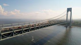 Το Verrazano στενεύει το βίντεο γεφυρών hyperlapse απόθεμα βίντεο