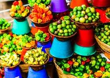 Το Vie κέρδισε την αγορά φρέσκων λαχανικών σε SAN Cristobal de las Casas, Chiapas, Μεξικό στοκ φωτογραφίες