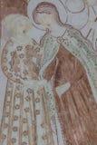 Το Visitation είναι η επίσκεψη της Mary στη Elizabeth στοκ εικόνες με δικαίωμα ελεύθερης χρήσης