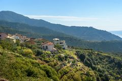 Το Volastra είναι χωριό στο εθνικό πάρκο Cinque Terre Ιταλία στοκ εικόνες