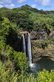 Το Wailua πέφτει της Χαβάης καταρράκτης Στοκ εικόνα με δικαίωμα ελεύθερης χρήσης