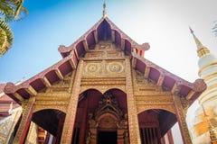 Το Wat Phra τραγουδά το ναό είναι δημόσιο για όλους τους ανθρώπους που βρίσκονται στην επαρχία Chiang Mai, Ταϊλάνδη, Ασία Στοκ φωτογραφία με δικαίωμα ελεύθερης χρήσης