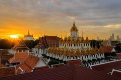 Το Wat Ratchanadda, αυτό είναι μια θέση που είναι σημαντική στο βουδισμό στην Ταϊλάνδη στοκ εικόνα με δικαίωμα ελεύθερης χρήσης