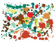 Το Watercolor λεκιάζει grunge το διάνυσμα υποβάθρου Κατάκλιση του μελανιού splatter, λεκέδες ψεκασμού, βρώμικα στοιχεία σημείων,  απεικόνιση αποθεμάτων
