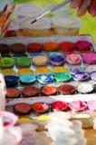 Το Watercolor χρωματίζει 3 Στοκ εικόνα με δικαίωμα ελεύθερης χρήσης