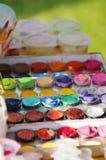 Το Watercolor χρωματίζει 2 Στοκ Εικόνες