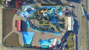 Το Waterpark ΦΟΡΑ το πάρκο Ρωσία Περιοχή Rostov Bataysk απόθεμα βίντεο