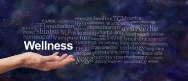 Το Wellness σας είναι στα χέρια σας στοκ εικόνα