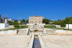 Το Zisa Castle στο Παλέρμο, Σικελία Ιταλία Στοκ Εικόνες