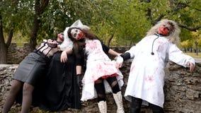 Το Zombie πέθανε στον τοίχο απόθεμα βίντεο
