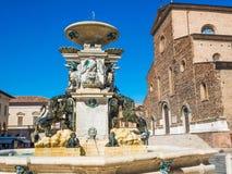 ΤΠ Faenza: Piazza del Popolo, μεσαιωνικό παλάτι, καθεδρικός ναός, η καλλιτεχνική κεραμική στοκ εικόνες