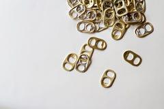 Τράβηγμα δαχτυλιδιών για ανακύκλωσης Στοκ Φωτογραφίες