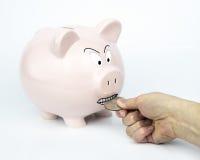 τράπεζαη Piggy Στοκ Εικόνες