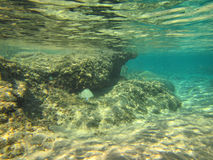 Τράπεζα άμμου στη ρηχή κοραλλιογενή ύφαλο Στοκ Εικόνα