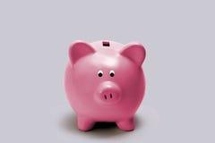 τράπεζα λίγο piggy ροζ Στοκ Φωτογραφίες
