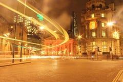 Τράπεζα Λονδίνο τη νύχτα Στοκ Φωτογραφία