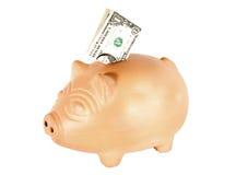 Τράπεζα δολαρίων Piggy Στοκ φωτογραφία με δικαίωμα ελεύθερης χρήσης