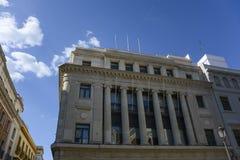 Τράπεζα στη Σεβίλλη Στοκ εικόνες με δικαίωμα ελεύθερης χρήσης
