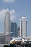 Τράπεζα της Αμερικής του Σαρλόττα και πύργος Hearst Στοκ εικόνα με δικαίωμα ελεύθερης χρήσης
