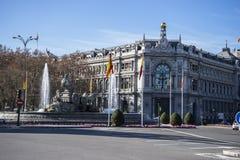 Τράπεζα της Ισπανίας στη Μαδρίτη Στοκ Εικόνες