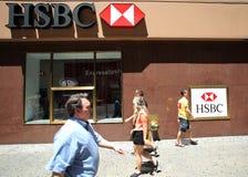 Τράπεζα της HSBC Στοκ φωτογραφίες με δικαίωμα ελεύθερης χρήσης