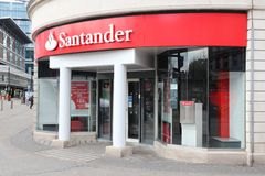 Τράπεζα του σαντάντερ Στοκ φωτογραφία με δικαίωμα ελεύθερης χρήσης
