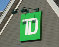 Τράπεζα του TD στοκ εικόνες με δικαίωμα ελεύθερης χρήσης