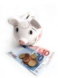 τράπεζα 6 piggy Στοκ Εικόνα