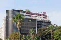 Τράπεζα Banco de Credito Balear Balear Credito Plaza de Espana σε Palma, Majorca Στοκ Εικόνα
