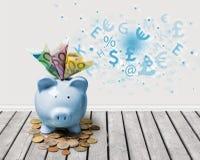Τράπεζα Piggy, αποταμίευση, νόμισμα Στοκ Εικόνες