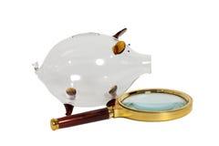 Τράπεζα Piggy γυαλιού με την ενίσχυση - γυαλί Στοκ φωτογραφία με δικαίωμα ελεύθερης χρήσης
