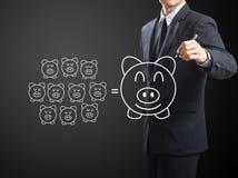 Τράπεζα Piggy, που σώζει την έννοια Στοκ εικόνα με δικαίωμα ελεύθερης χρήσης
