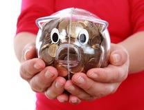 Τράπεζα Piggy σε ετοιμότητα Στοκ Φωτογραφίες