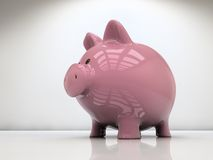 Τράπεζα Piggy στο λευκό Στοκ Εικόνες