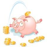 τράπεζα piggy Στοκ εικόνες με δικαίωμα ελεύθερης χρήσης