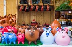 τράπεζες πολλές piggy Στοκ Φωτογραφία