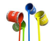 τράπεζες τέσσερα χρώμα Στοκ εικόνες με δικαίωμα ελεύθερης χρήσης