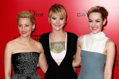 Τράπεζες της Elizabeth, Jennifer Lawrence, Ιένα Malone Στοκ εικόνα με δικαίωμα ελεύθερης χρήσης