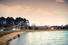 Τράπεζες του νερού στο πάρκο ειρήνης του Νάρα, Καμπέρρα, Αυστραλία Στοκ φωτογραφία με δικαίωμα ελεύθερης χρήσης