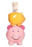Τράπεζες Piggy με τα σκωτσέζικα χρήματα Στοκ φωτογραφίες με δικαίωμα ελεύθερης χρήσης