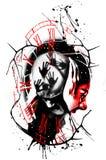 Τρέλα Πόλκα απορριμμάτων Digitalart grunge διανυσματική απεικόνιση