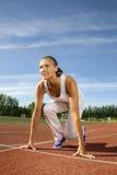 Τρέξιμο έναρξης κοριτσιών ομορφιάς στοκ εικόνα με δικαίωμα ελεύθερης χρήσης