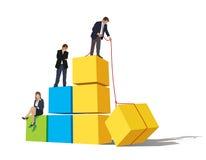 τρέξιμο έννοιας ανταγωνισμού επιχειρησιακών επιχειρηματιών χαρτοφυλάκων απεικόνιση αποθεμάτων