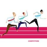 τρέξιμο έννοιας ανταγωνισμού επιχειρησιακών επιχειρηματιών χαρτοφυλάκων Στοκ φωτογραφίες με δικαίωμα ελεύθερης χρήσης