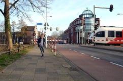 Τρέξιμο αγοριών που φοβάται Στοκ εικόνες με δικαίωμα ελεύθερης χρήσης