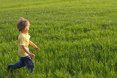 τρέξιμο αγοριών Στοκ Εικόνα